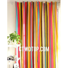 Pink And Orange Curtains Striped Curtains Codingslime Me