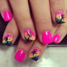 spring trend 16 white nail designs you may love palm tree nails