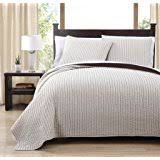 Taupe Coverlet Amazon Com 3 Piece Queen Brighton Embossed Taupe Coverlet Set