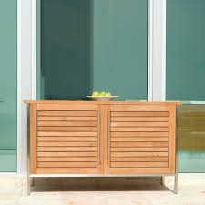 Patio Sideboard Table Vogue Teak And Stainless Steel Outdoor Patio Sideb Westminster