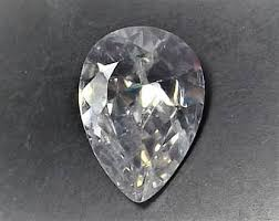 clear gemstones teardrop gems etsy