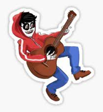guitar skull stickers redbubble