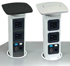 Brushed Steel Desk Lamp Desk Courtland Brushed Steel Desk Lamp With Power Outlets In