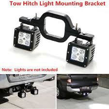 work light mounting bracket dual led backup reverse work light suv offroad truck tow hitch