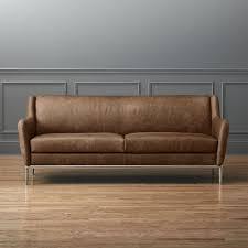 low profile leather sofas cb2
