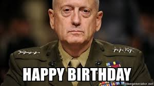 Meme Mad - happy birthday mad dog mattis meme generator