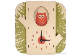 themed clock eco friendly wooden tree owl wall clock is for woodland