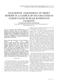 Sho X Pert diagnostic assessment of xpert mtb rif in pdf available
