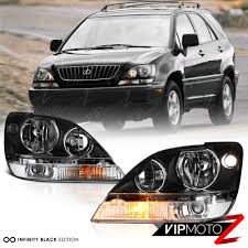 lexus is jdm 1999 2003 lexus rx300 fwd awd black jdm style front headlights