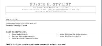 Cosmetology Skills And Abilities For Resume Fashion Stylist Resume Samples Hair Stylist Job Seeking Tips