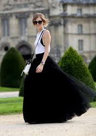 Draped Asymmetrical Maxi Skirt Black Plain Grenadine Draped Puffy Tulle High Waisted Floor Length