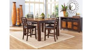 adelson chocolate 5 pc counter height dining room casual