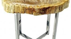 petrified wood end table formalbeauteous petrified wood end table enviroglas com