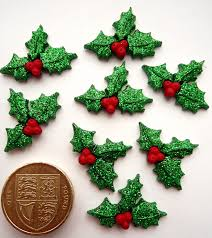 glitter holly christmas novelty craft buttons u0026 embellishments by
