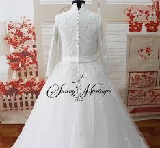 femme musulmane mariage robe de mariee manches longues mariage