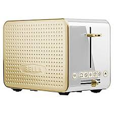 Bella 2 Slice Toaster Bella Dots Collection 2 0 2 Slice Toaster White And Gold By Office