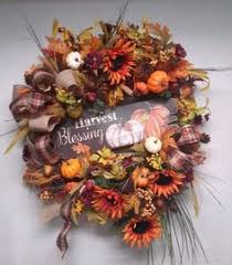 flower wreath fox fall autumn thanksgiving door wall decoration