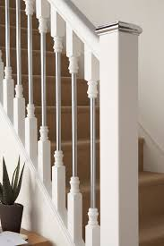 Banister Parts Contemporary Wood Banisters Axxys Solo White Primed With Chrome