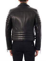 black leather biker jacket burberry prorsum leather biker jacket in black for men lyst