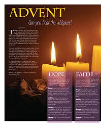 Advent Candle Lighting Readings Advent Can You Hear The Whispers Today U0027s Catholic