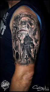 25 beautiful graveyard tattoo ideas on pinterest tattoo