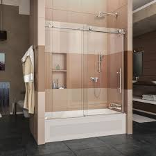 chrome shower doors showers the home depot enigma x 56 in to 59 in x 62 in frameless sliding