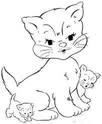 cute cat coloring pages coloringpagehub
