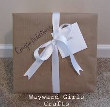 bridal shower wrapping paper wayward crafts present wrapping a bridal shower gift