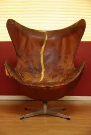 Jacobsen Chair Vintage Arne Jacobsen Leather Egg Chair For Fritz Hansen At 1stdibs