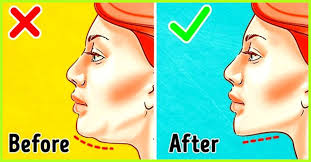 long hairstyles to compliment sagging jawline how to get rid of a double chin