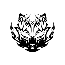tribal wolf stock vector illustration of canine 30278651