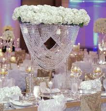 2 sizes oval shape crystal acrylic beaded wedding centerpieces