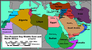middle east map with countries countries in the middle east economics of the mena