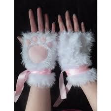 White Cat Halloween Costume Furry Polyvore