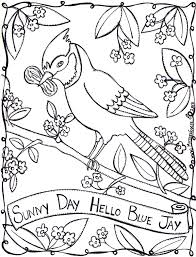 free bird jay coloring pages for kids printable colorpages7 com