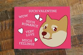 punny valentines day cards card such doge
