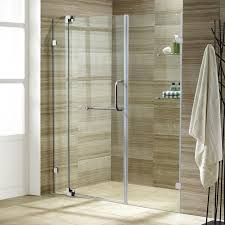 leaking shower door vigo pirouette 66 in x 72 in adjustable semi framed pivot shower