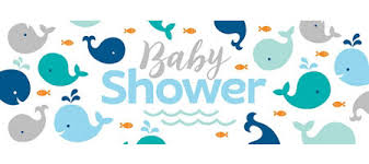 baby shower banner blue baby whale baby shower banner blue baby whale party
