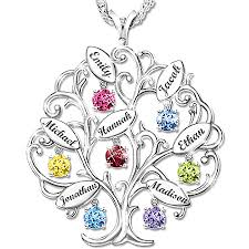 personalized family tree necklace faith and family jewelry