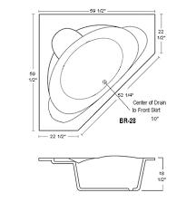 bathtubs idea marvellous tub dimensions tub