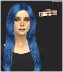 sims 4 blue hair cazy over the light hair retexture simista a little sims 4 site
