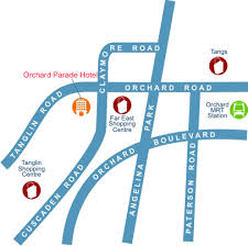 parade hotels orchard parade hotel map singapore free n easy travel