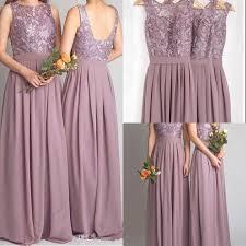 dusty wedding dress dusty purple lace custom bridesmaid dresses fs6583