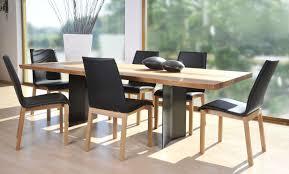 Table De Cuisine En Verre Avec Rallonge by Table Rectangulaire Verre Et Bois Pied Eole