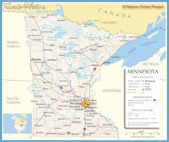 Minnesota natural attractions images Minnesota map tourist attractions travel map vacations jpg