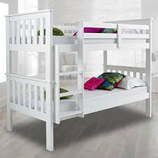 Solid Wood Bunk Beds Uk Atlantis Pinewood White Bunk Bed Two Sleeper Quality Solid Pine