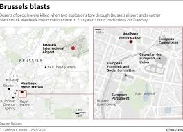 belgium subway map explosions reported at brussels airport metro station business