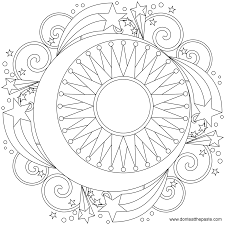 printable mandala coloring pages download and print sun moon and