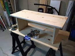 Standing Desk For Cubicle Build A Wood Standing Desk For Your Cubicle Jeff Geerling