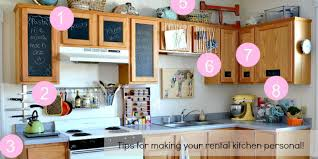 rental kitchen ideas remodelaholic how to bring personality to your rental kitchen